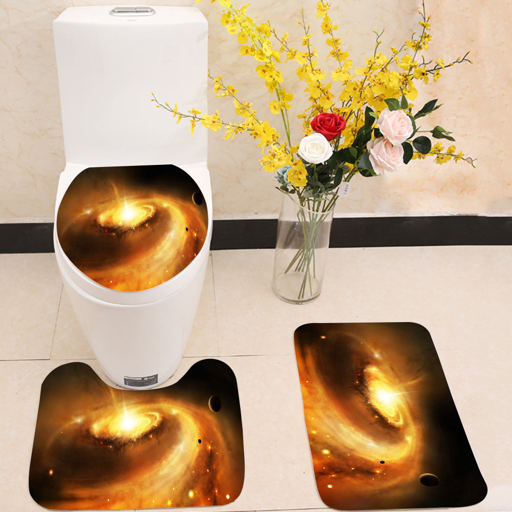 Galaxy core in space 3 Piece Toilet Cover Set