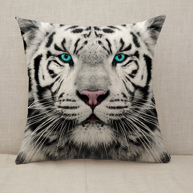 White Siberian tiger face Throw Pillow [With Inserts]