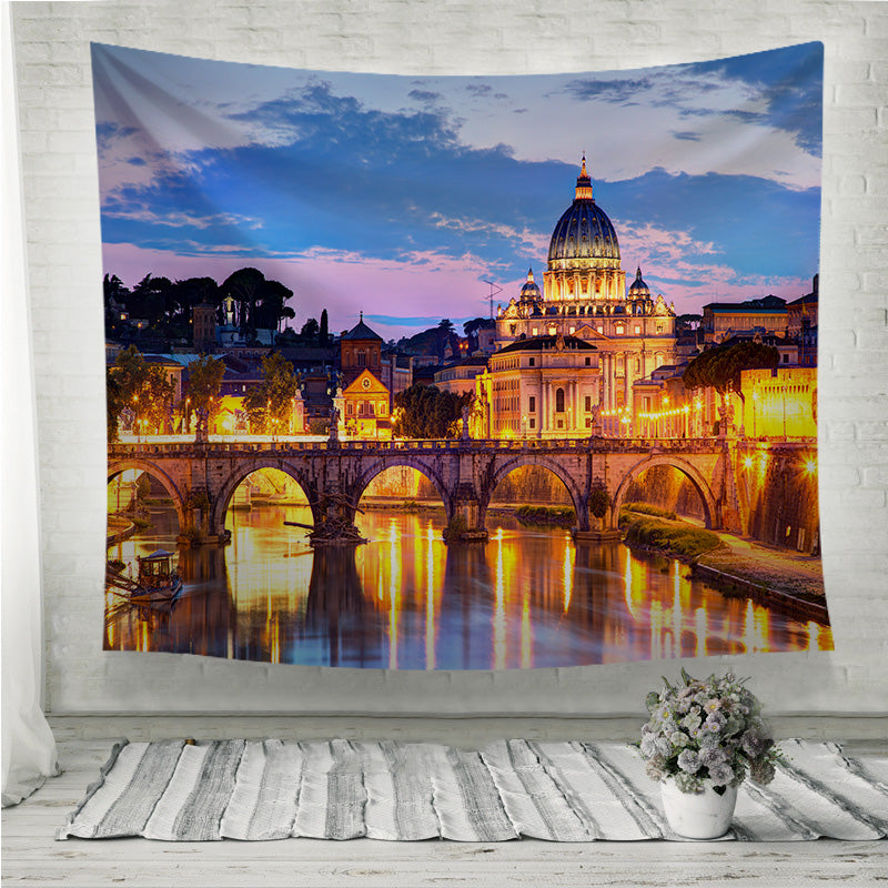 River Tiber in Rome Italy Wall Tapestry