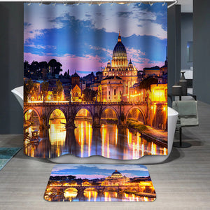 River Tiber in Rome Italy Shower Curtain