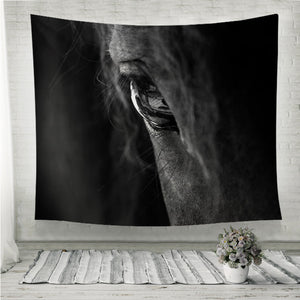 Hourse Eye Wall Tapestry