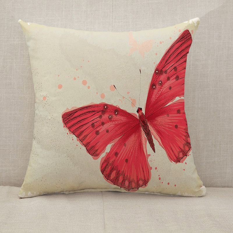 Red butterfly Throw Pillow [With Inserts]