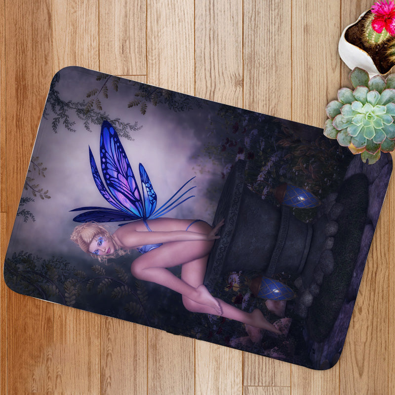 Fairy butterfly Bath Mat