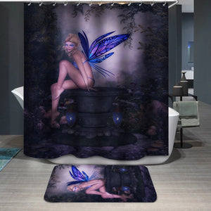 Fairy butterfly Shower Curtain