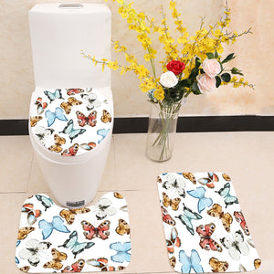 Beautiful watercolor butterflies 3 Piece Toilet Cover Set