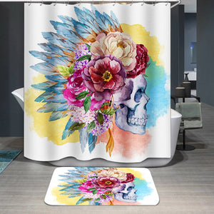 Ethnic skull Shower Curtain