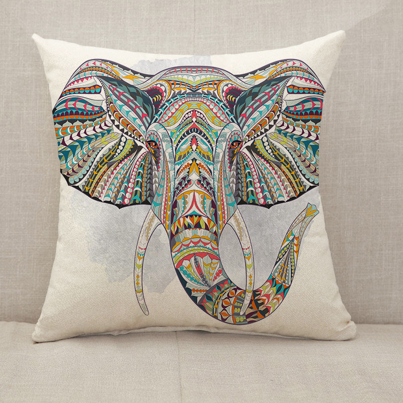 Ethnic elephant Throw Pillow [With Inserts]