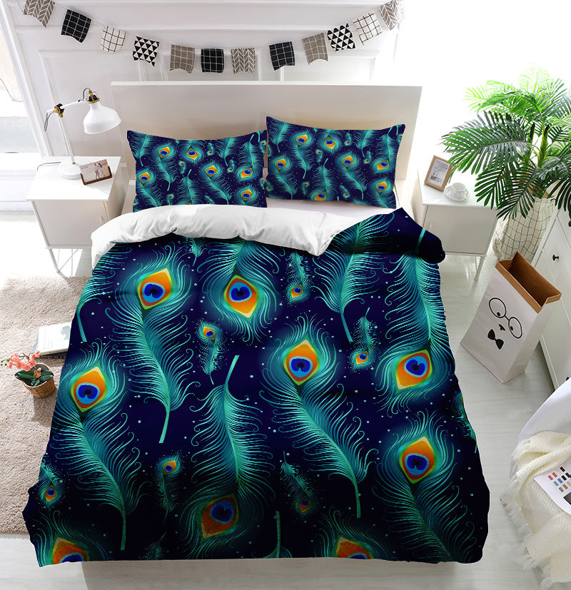 Peacock feathers Duvet Cover Bedding Set