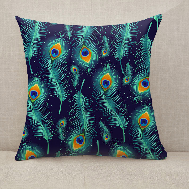 Peacock feathers Throw Pillow [With Inserts]