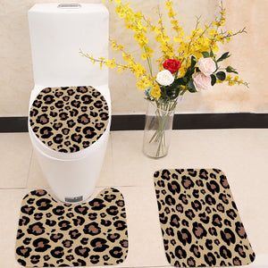 Leopard skin pattern 3 Piece Toilet Cover Set