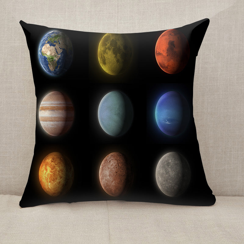 Planets of the solar system Throw Pillow [With Inserts]