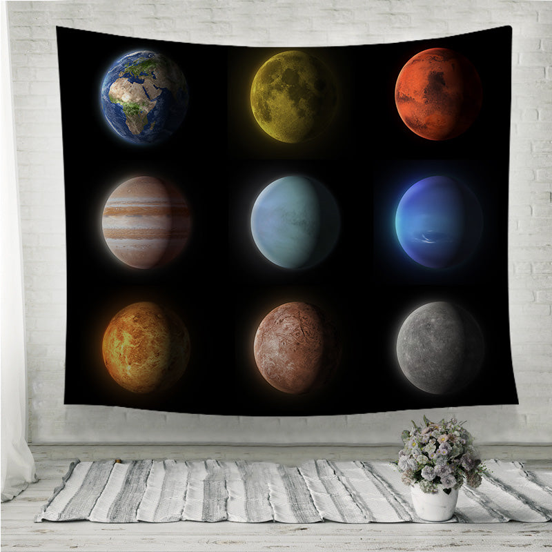 Planets of the solar system Wall Tapestry