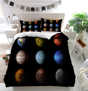 Planets of the solar system Duvet Cover Bedding Set