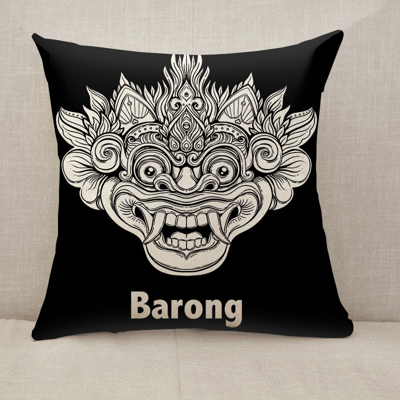 Barong ethnic Throw Pillow [With Inserts]