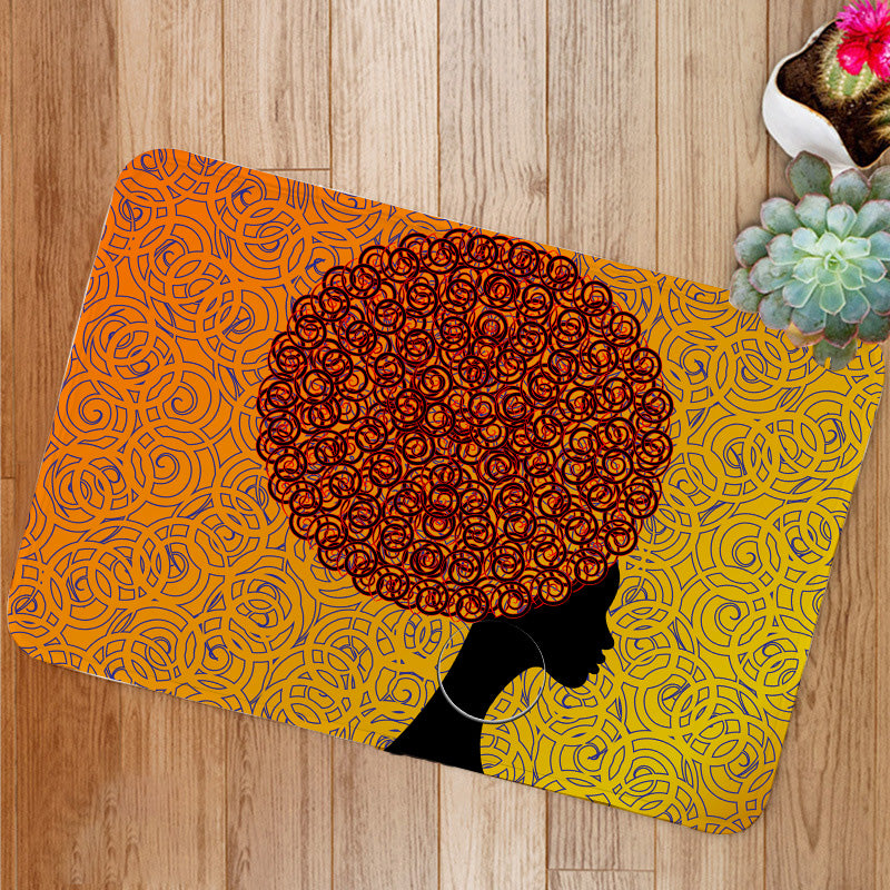 African Women portrait Bath Mat