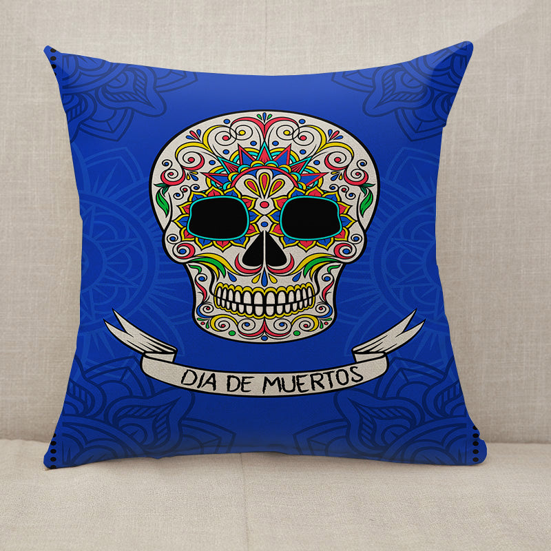 Mexican sugar skull Throw Pillow [With Inserts]
