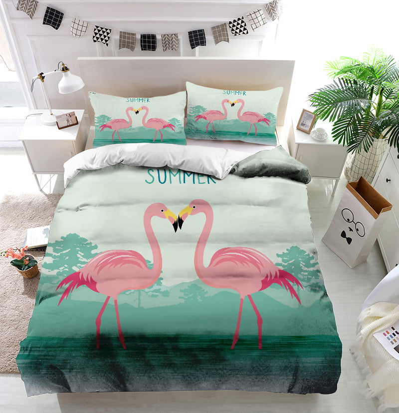 Flamingo Lovers Duvet Cover Bedding Set