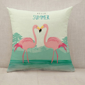 Flamingo Lovers Throw Pillow [With Inserts]