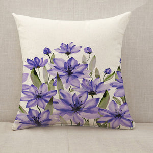 Purple flowers Throw Pillow [With Inserts]