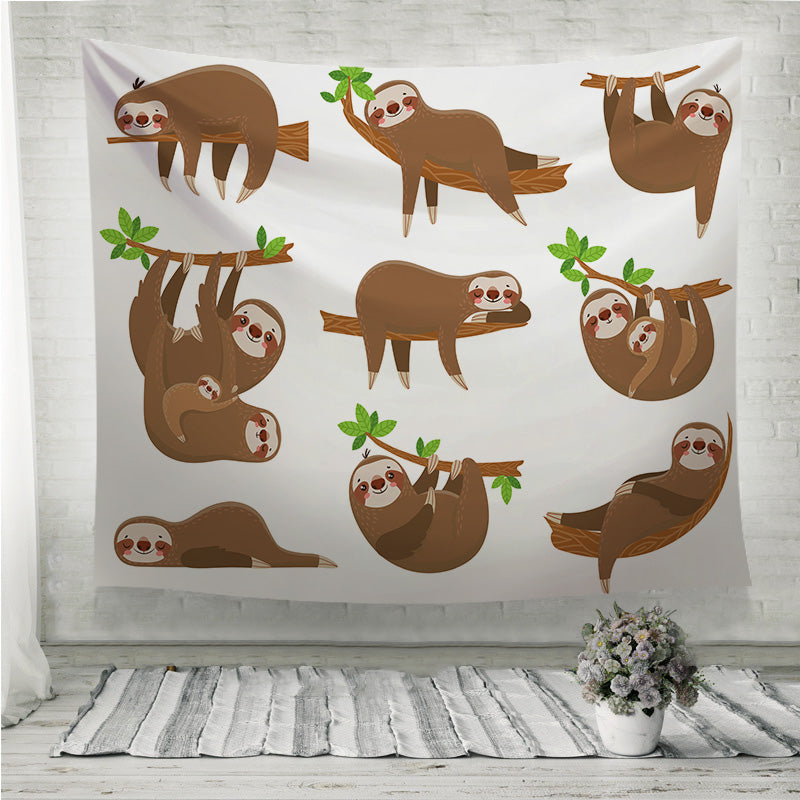 Sloths family Wall Tapestry
