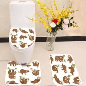 Sloths family 3 Piece Toilet Cover Set