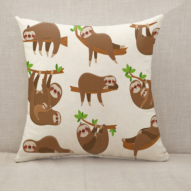 Sloths family Throw Pillow [With Inserts]