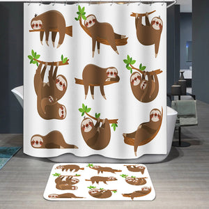 Sloths family Shower Curtain