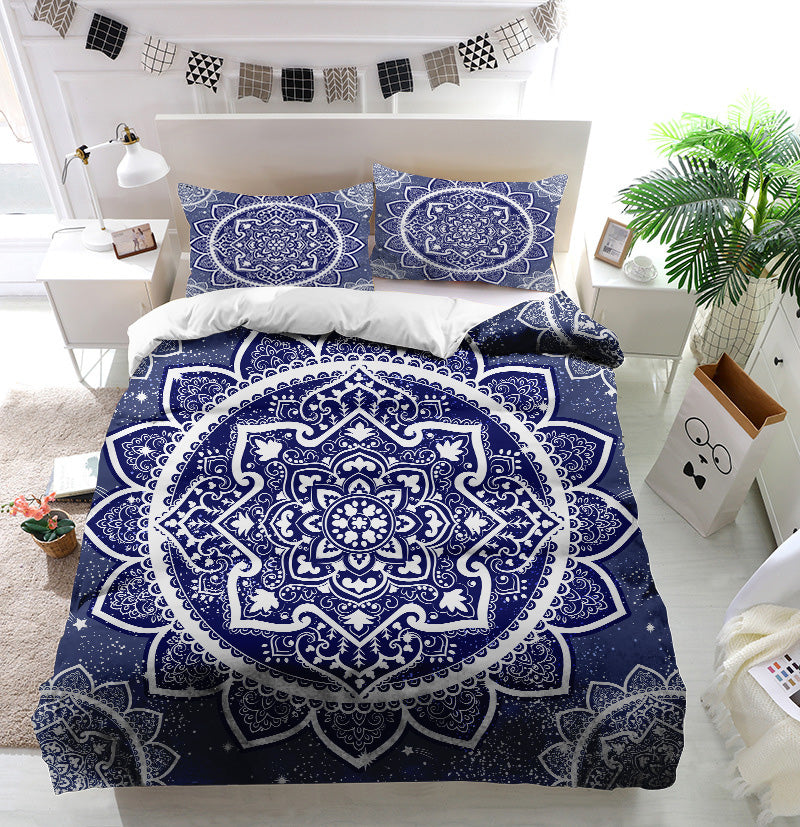 Bohemian Indian Mandala Duvet Cover Bedding Set