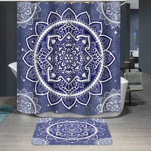Bohemian Indian Mandala Shower Curtain