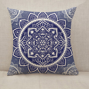 Bohemian Indian Mandala Throw Pillow [With Inserts]