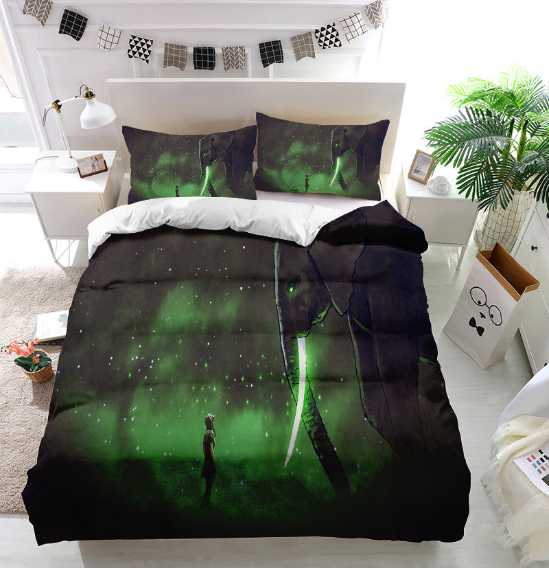 Facing the giant elephant Duvet Cover Bedding Set