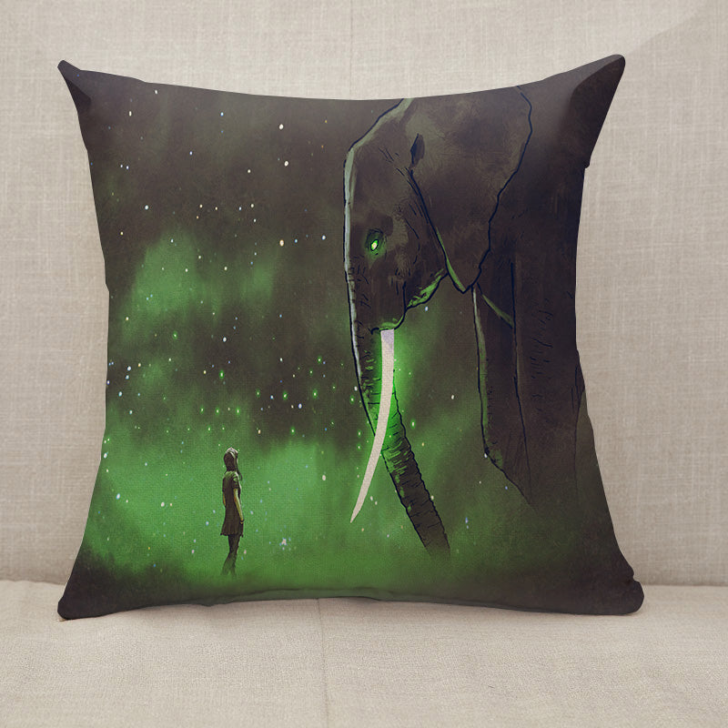Facing the giant elephant Throw Pillow [With Inserts]