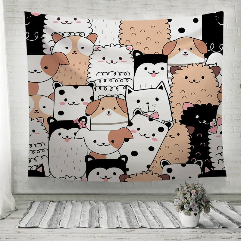 Cute animals Wall Tapestry