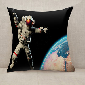 Astronaut in Outer Space Throw Pillow [With Inserts]