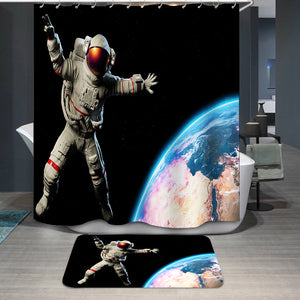 Astronaut in Outer Space Shower Curtain