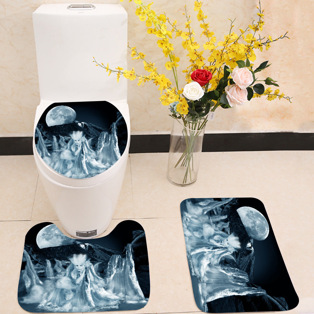 Goddess of water 3 Piece Toilet Cover Set