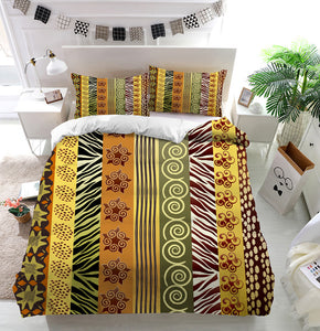 African fabric in earthtones Duvet Cover Bedding Set