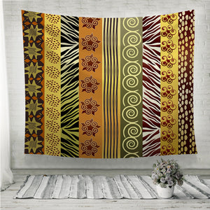 African fabric in earthtones Wall Tapestry