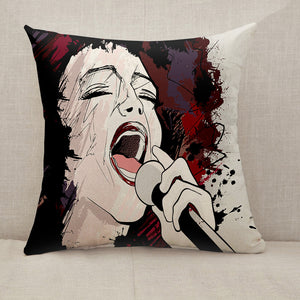 African jazz singer Throw Pillow [With Inserts]