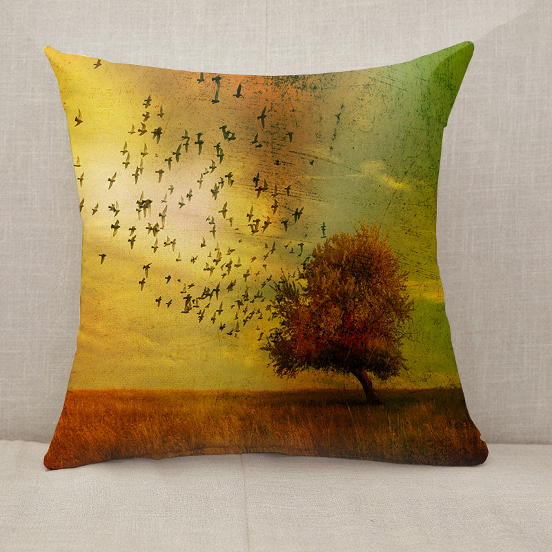 Grunge fantasy landscape Throw Pillow [With Inserts]