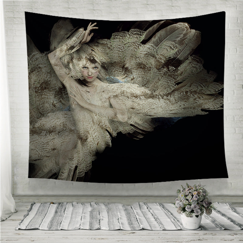 Plumage girl Wall Tapestry
