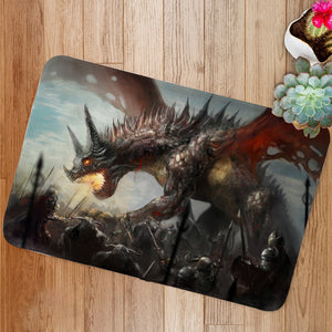 Knights hunting dragon Bath Mat
