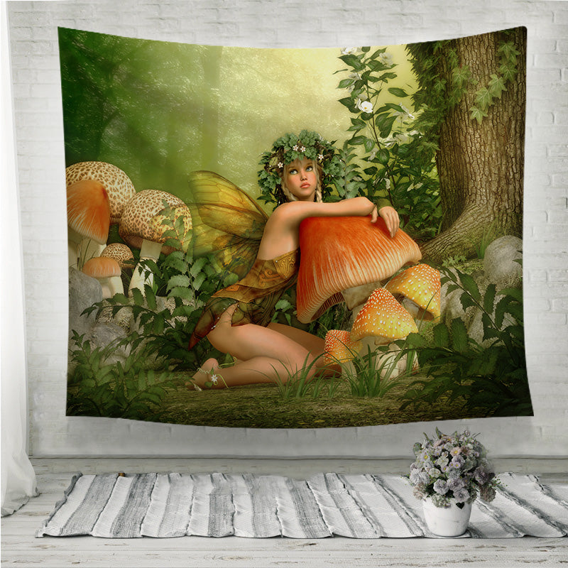 Enchanted wood fairy girl Wall Tapestry