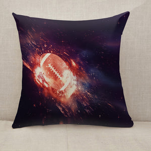 Rugby Ball Flies Throw Pillow [With Inserts]