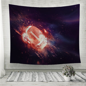 Rugby Ball Flies Wall Tapestry