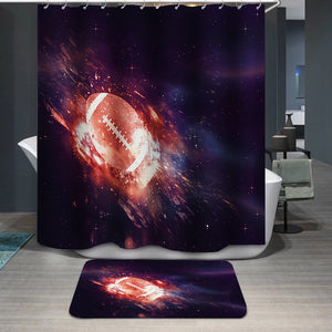 Rugby Ball Flies Shower Curtain