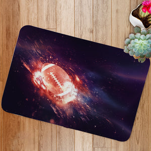 Rugby Ball Flies Bath Mat