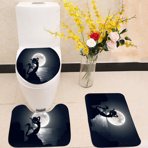 Mermaid mythical night 3 Piece Toilet Cover Set