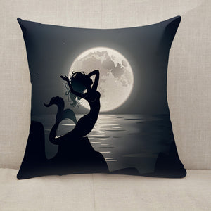Mermaid mythical night Throw Pillow [With Inserts]