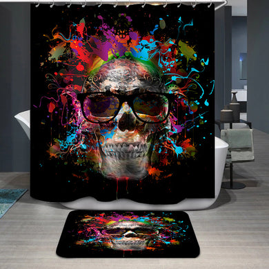 Colorful skull Shower Curtain